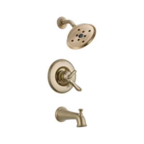 Linden™ Collection Tub/Shower Trim Monitor 17 Valve H2O Showerhead Champagne Bronze