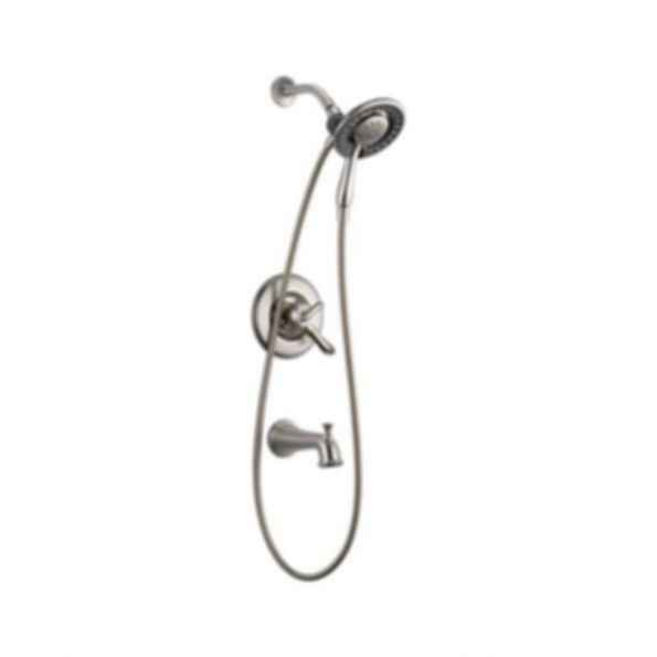 Linden™ Collection Tub/Shower Trim Monitor 17 Valve Raincan Hand Shower Brilliance Stainless