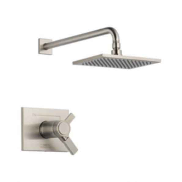 Shower Trim,Thermostatic, Volume and Temperature Control, Brilliance® Stainless