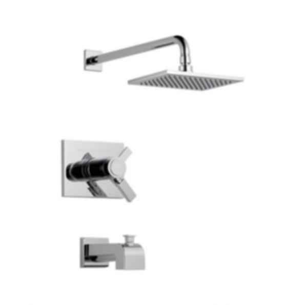 Tub/Shower, Thermostatic, Volume and Temperature Control, Polished Chrome