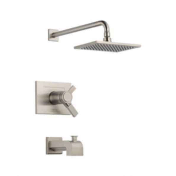 Tub/Shower, Thermostatic, Volume and Temperature Control, Brilliance® Stainless
