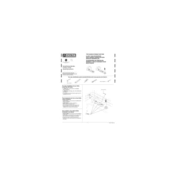 Vero™Two-Handle Roman Tub/Whirpool Faucet Trim, Three-Hole Installation, Polished Chrome