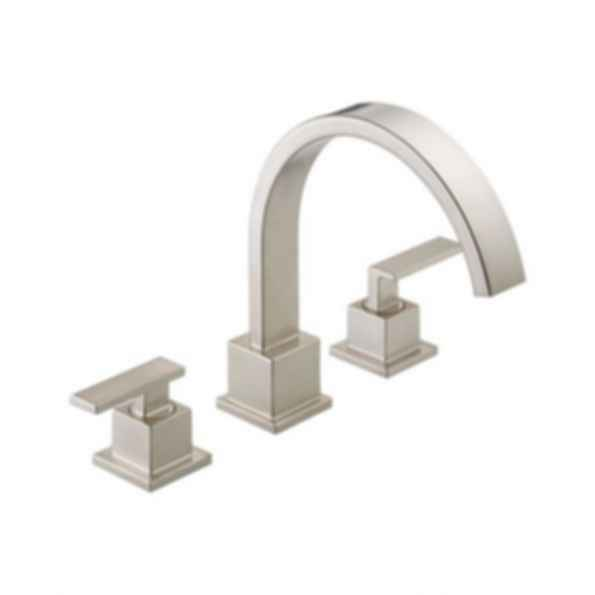 Vero™Two-Handle Roman Tub/Whirpool Faucet Trim, 3-Hole Installation, Brilliance® Stainless