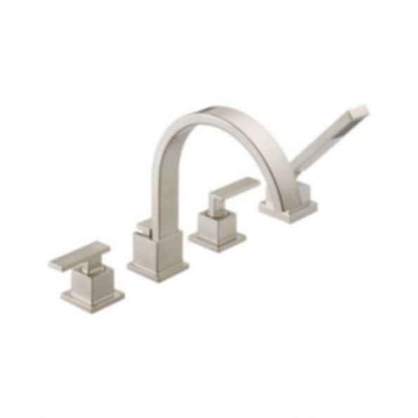 Vero™Roman Tub Faucet with Handshower, 4Hole Installation, Brilliance® Stainless