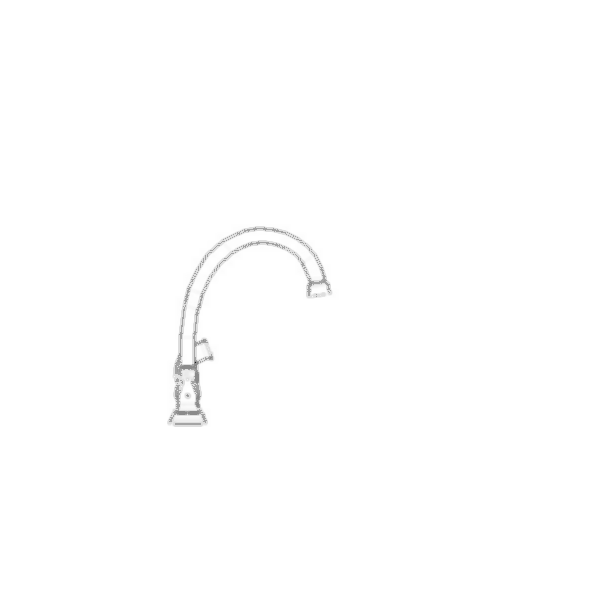 Orleans Two Handle Kitchen Faucet with Spray Handle, 4-Hole 8