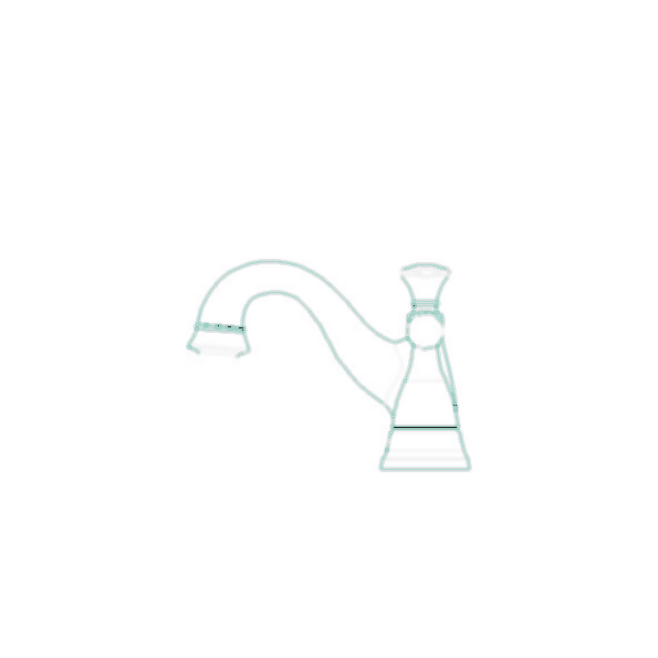 Lockwood Centerset Bath Faucet, 3-Hole 4? Installation, Chrome Finish