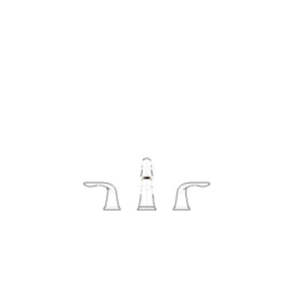 Lahara Two Handle Widespread Bath Faucet, 3-Hole 6-16c