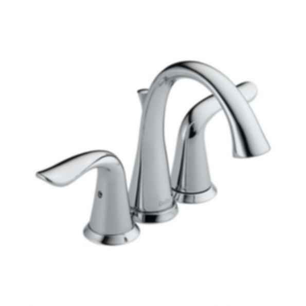 Lahara Two Handle Mini-Widespread Bath Faucet, 3-Hole 4? Installation, Chrome Finish