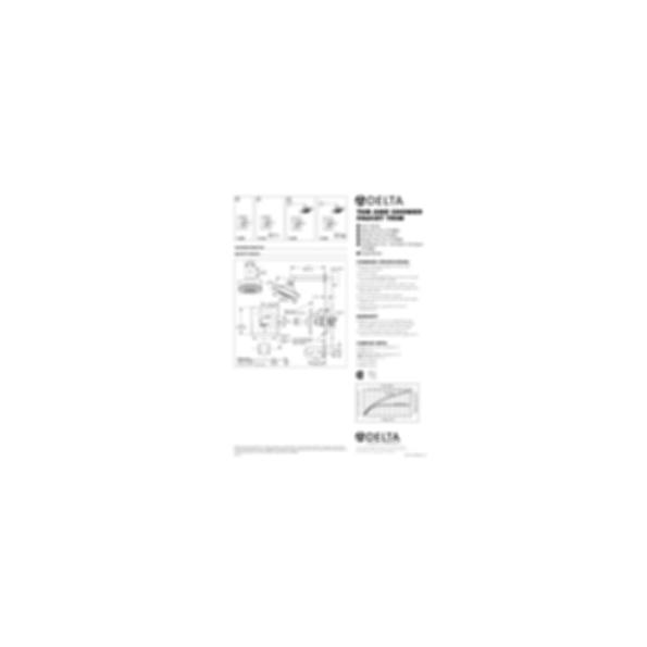 Arzo Monitor® Scald-Guard® Tub Trim, Chrome Finish