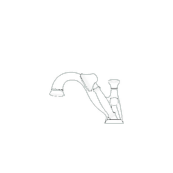 RT Faucet w-Hand Shower Trim, 4-Hole 8-16