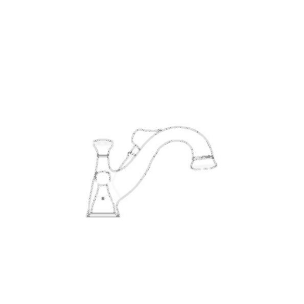 Lockwood RT Faucet w-Hand Shower Trim, 4-Hole 8-16