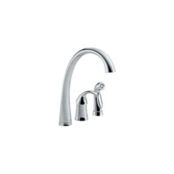 Pilar Single Handle Kitchen Faucet wth Spray, 3-Hole 6-16