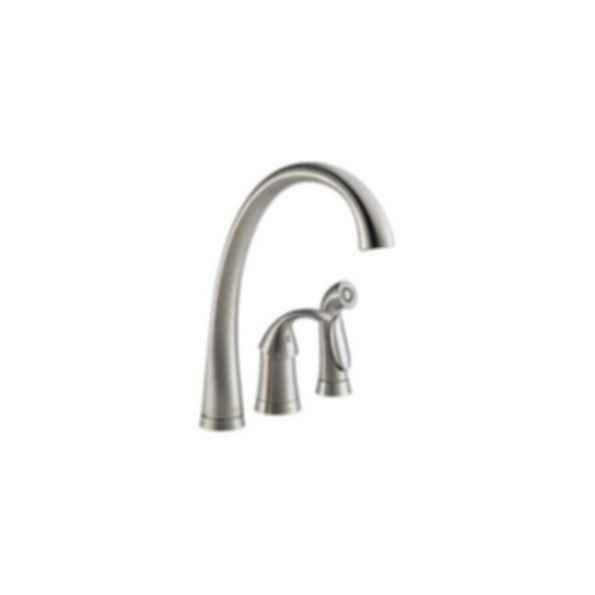 Pilar Single Handle Kitchen Faucet with Spray, 3-Hole 6-16