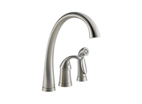 Pilar Single Handle Kitchen Faucet With Spray 3 Hole 6 16