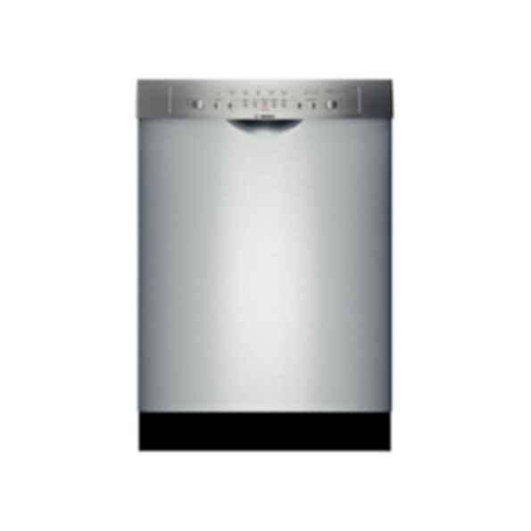 "Bosch 24"" DLX Recessed Handle Dishwasher Ascenta- Stainless steel SHE3ARL5UC"