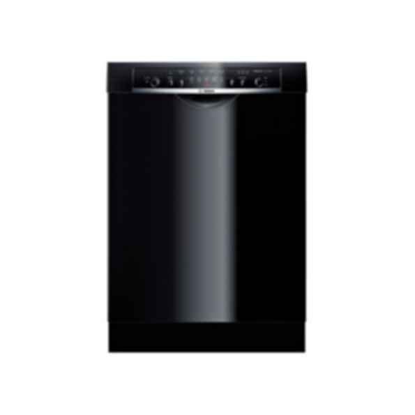 "Bosch 24"" DLX Recessed Handle Dishwasher Ascenta- Black SHE3ARL6UC"