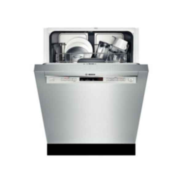 """Bosch 24"""" Recessed Handle Dishwasher 300 Series- Stainless steel SHE53T55UC"""