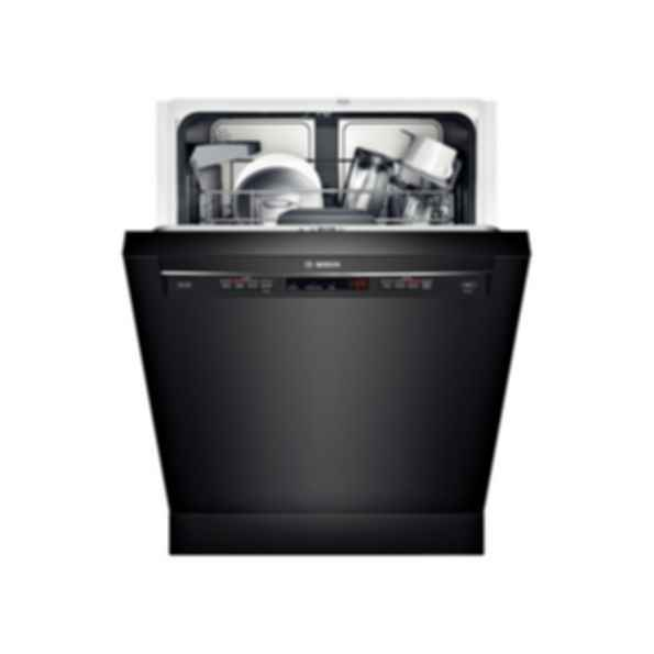 "Bosch 24"" Recessed Handle Dishwasher 300 Series- Black SHE53TF6UC"