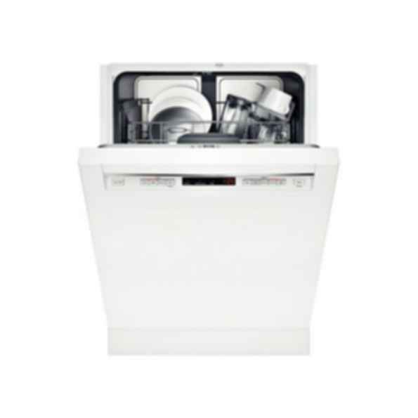 """Bosch 24"""" Recessed Handle Dishwasher 300 Series- White SHE53TL2UC"""