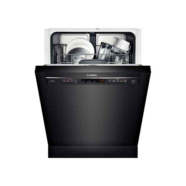 "Bosch 24"" Recessed Handle Dishwasher 300 Series- Black SHE53TL6UC"
