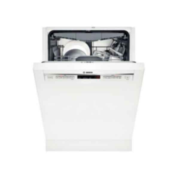 """Bosch 24"""" Recessed Handle Dishwasher 800 Series- White SHE68T52UC"""