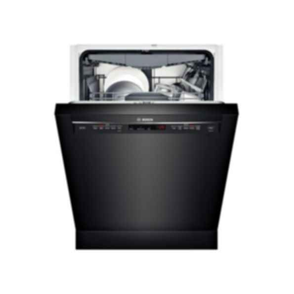 """Bosch 24"""" Recessed Handle Dishwasher 800 Series- Black SHE68T56UC"""