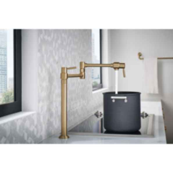 Euro Deck Mount Pot Filler Faucet 62720lf Modlar Com