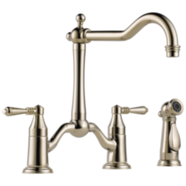 Tresa® Two Handle Bridge Kitchen Faucet with Spray 62536LF