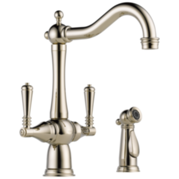 Tresa® Two Handle Kitchen Faucet With Spray 62136LF