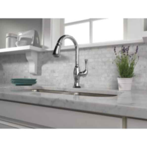 Talo® Single Handle Pull-Down Kitchen Faucet with SmartTouch® Technology 64003LF