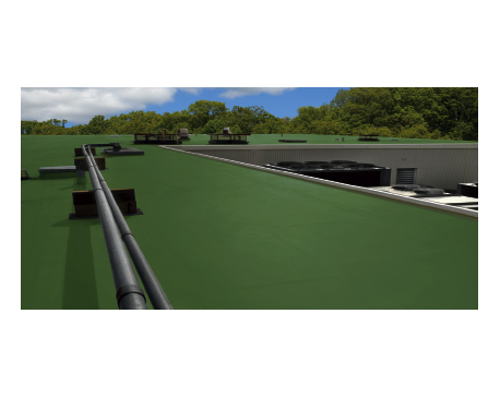 Roof TPO: Insulated Steel Deck