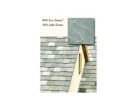 Slate Roofing, TruSlate Eco Green, 80% Eco Green, 20% Jade Green