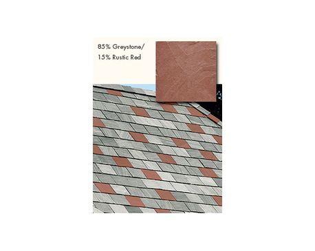 Slate Roofing, TruSlate Greystone, 85% Greystone, 15% Rustic Red