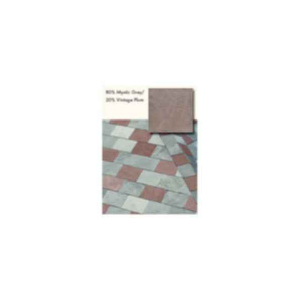 Slate Roofing, TruSlate Mystic Grey, 80% Mystic Grey, 20% Vintage Plum
