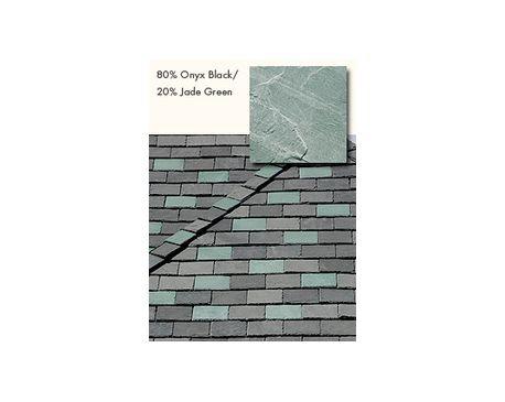 Slate Roofing, TruSlate Onyx Black, 80% Onyx, 20% Jade Green