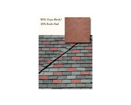 Slate Roofing, TruSlate Onyx Black, 80% Onyx, 20% Rustic Red