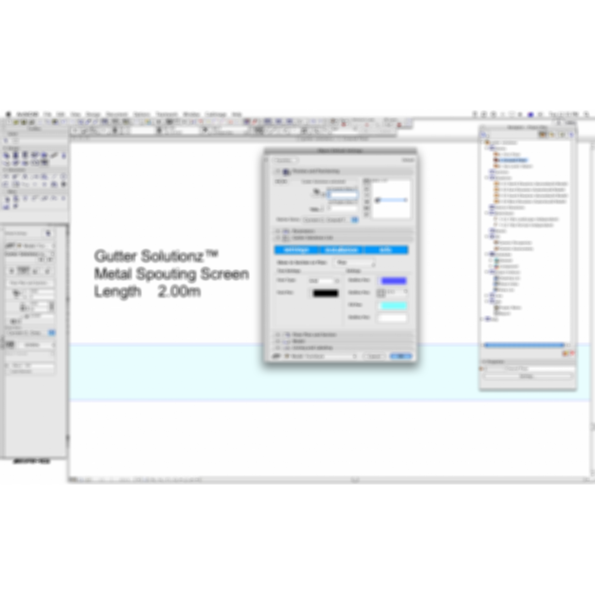 Gutter Solutionz screen for ArchiCAD object