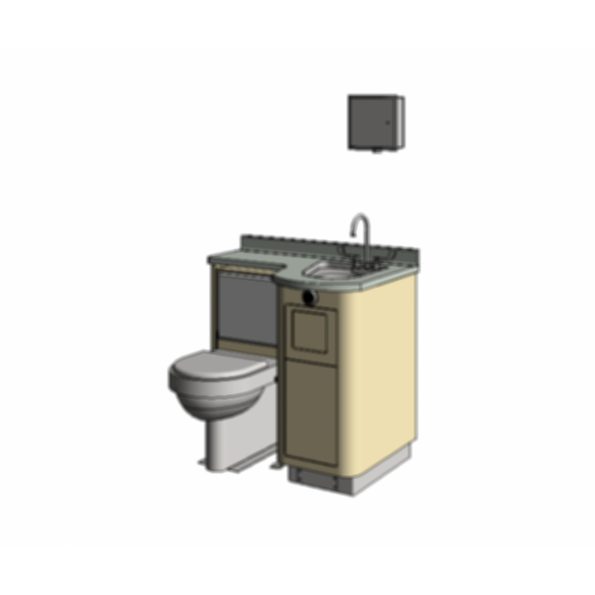 LC840 - Fixed Water Closet, Bed Pan Washer Comby
