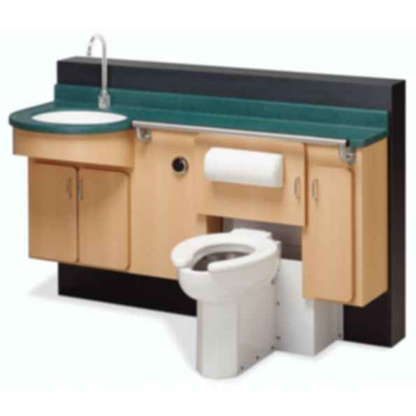 LC2000 - Lavatory, Fixed Water Closet, Bed Pan Washer, Storage Comby
