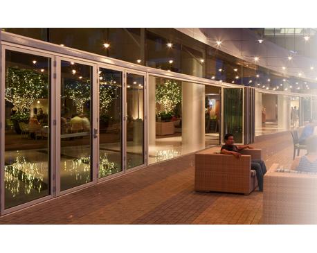 Nanawall folding glass walls sl70 for Folding glass walls