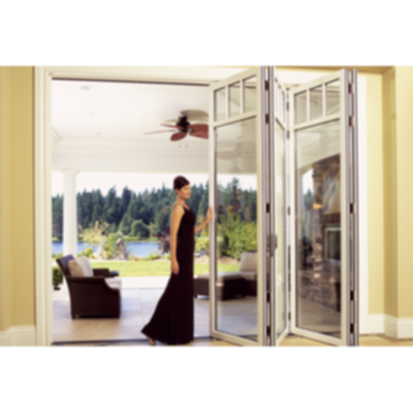 Nanawall folding glass walls wd65 for Retractable glass wall system