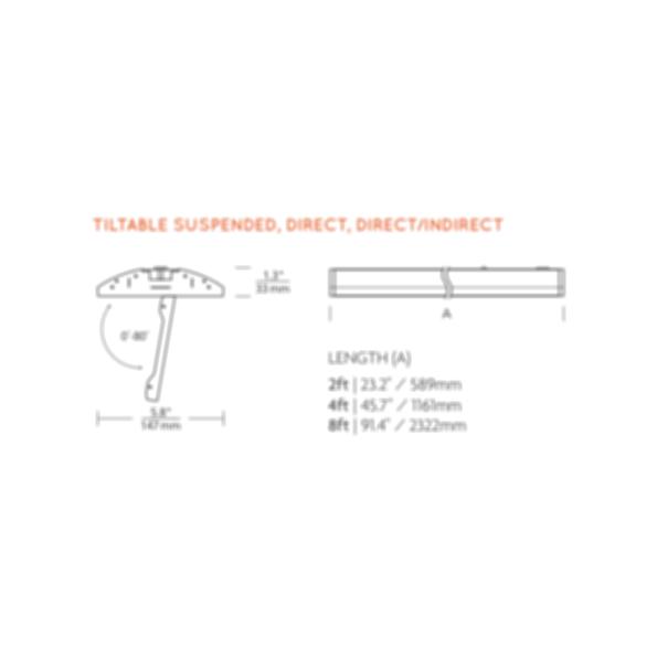 Tech Lighting - 2x Tilted 6x48 assembly