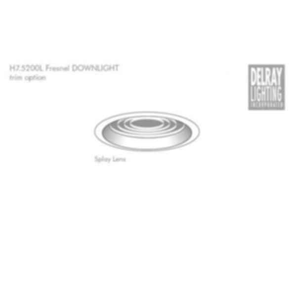 H7.5200L Fresnel Horizontal Downlight by Delray Lighting