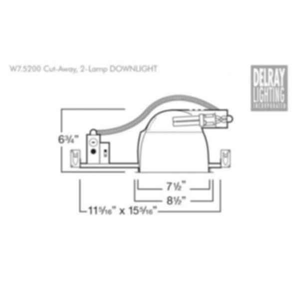 W7.5200 Horizontal Downlight by Delray Lighting