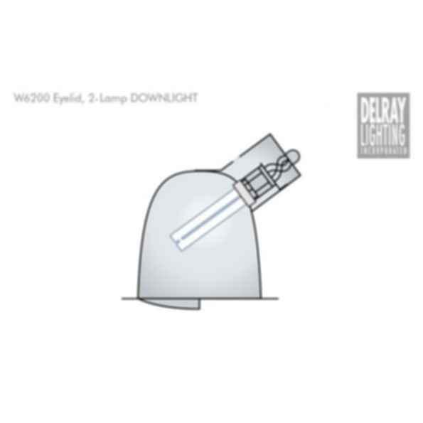 W6200 Horizontal Downlight by Delray Lighting