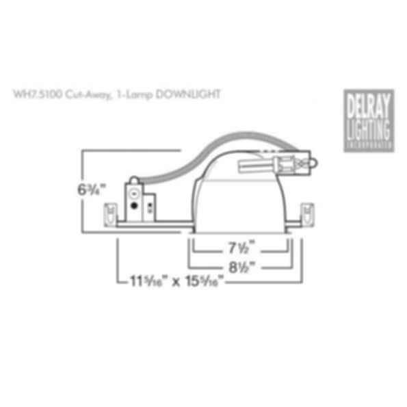 WH7.5100 Horizontal Downlight by Delray Lighting