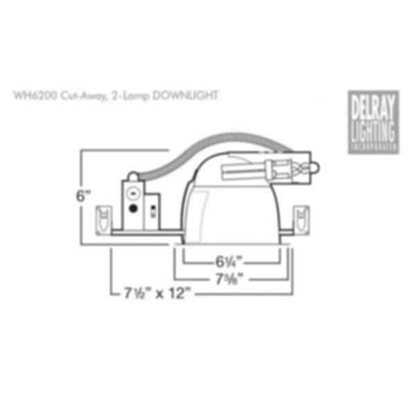 WH6200 Horizontal Downlight by Delray Lighting
