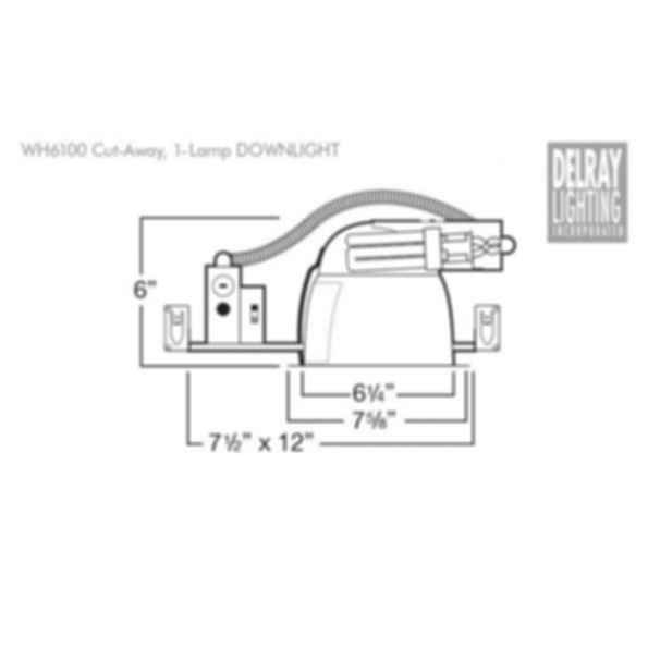 WH6100 Horizontal Downlight by Delray Lighting