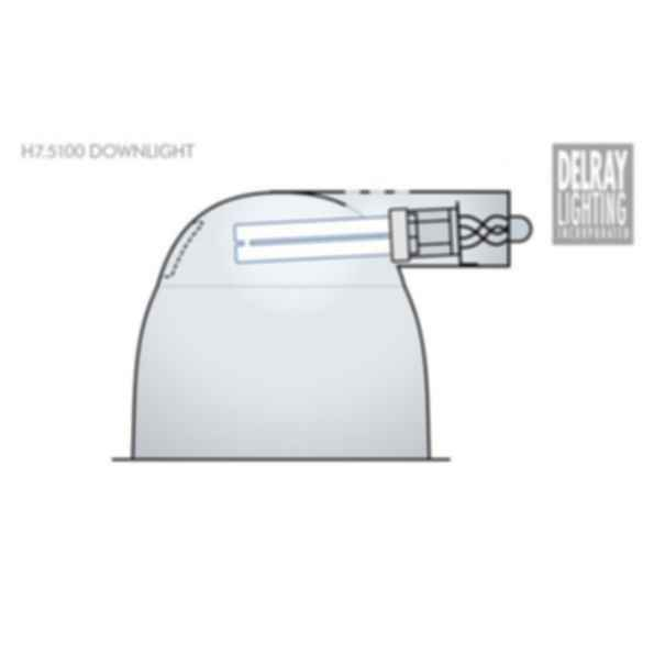 H7.5100 Horizontal Downlight by Delray Lighting