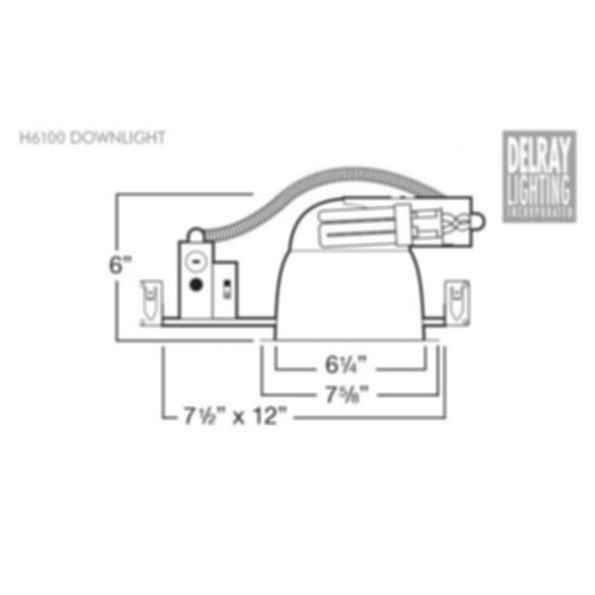 H6100 Horizontal Downlight by Delray Lighting